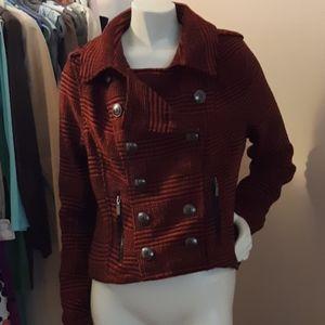 Rue 21 Soft Rust_Black Herringbone Fall Jacket XL